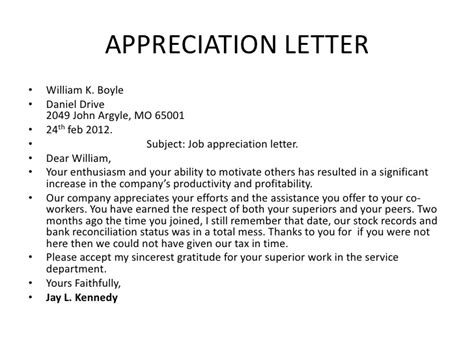 appreciation letter to for salary increment bsnsletters