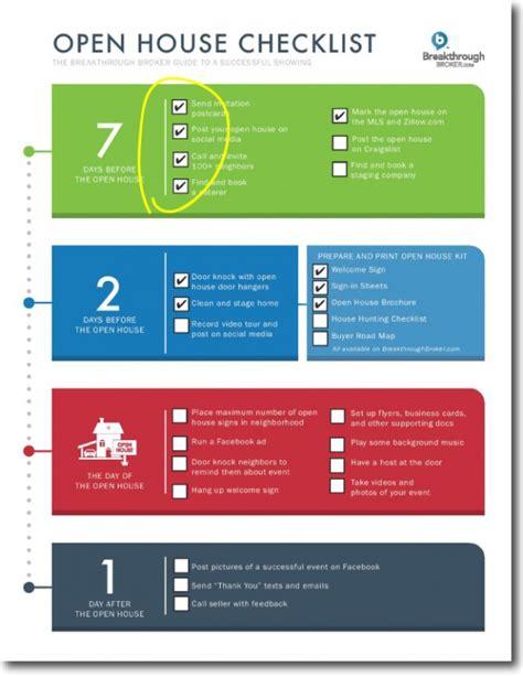 open house checklist open house task checklist