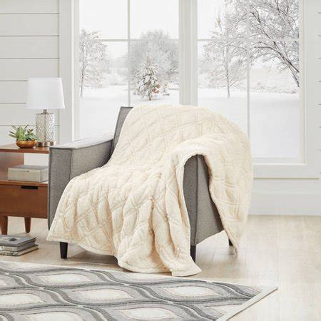Better Homes And Gardens Throws by Better Homes And Gardens Quilted Sherpa Throw Blanket