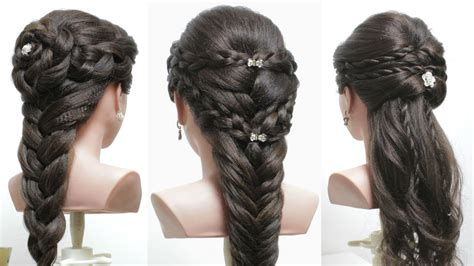 cute hairstyles for long hair youtube 3 easy hairstyles for long hair tutorial cute braids