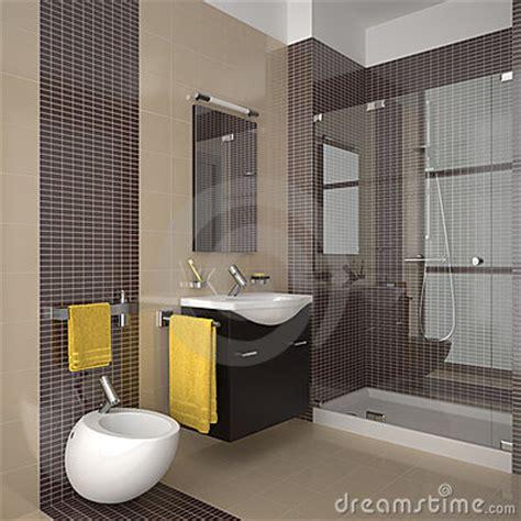 Baignoire Bébé Onda by Modern Beige Bathroom With Wood Furniture Stock Photos