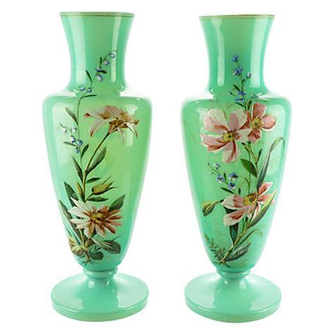 Glass Blown Vase Bristol Glass Blown Vase Pair 19th C Hacienda