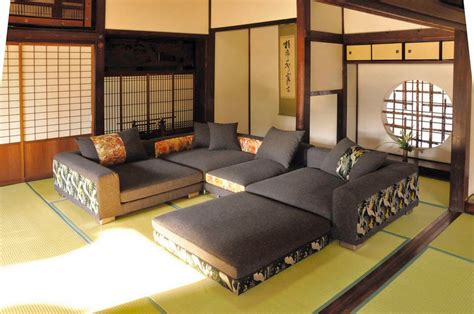 japanese inspired living room japanese inspired living room with large sofa