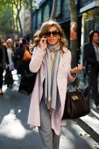 This italian woman has it all cute coat scarf and big handbag