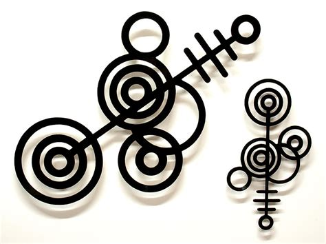 crop circles 1 abstract metal wall sculpture by sculptor