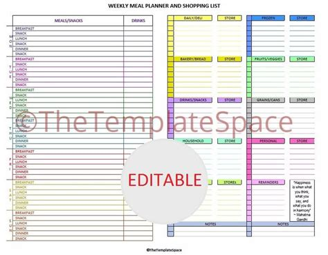 editable grocery list template 17 best ideas about grocery list templates on