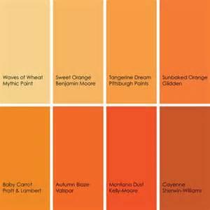orange color shades shades of orange paint colors 2 pinterest