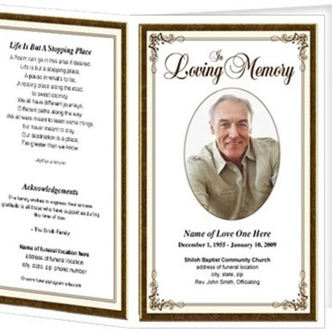 memorial card template best resumes