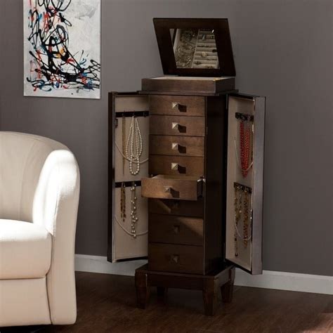southern enterprises jewelry armoire southern enterprises brogan jewelry armoire in gray brown