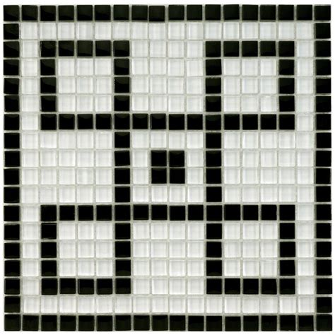 mosaic key pattern merola tile tessera ice white greek key 11 3 4 in x 11 3