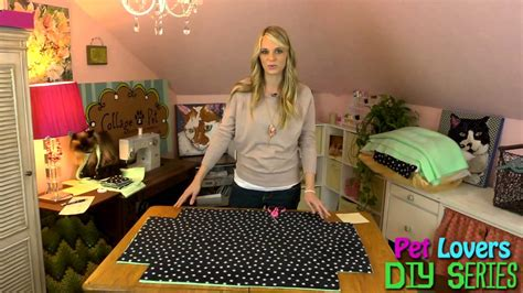diy pillow bed pet diy series episode 1 doggy pillow bed youtube