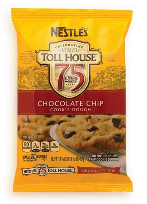 toll house cookie dough nestle toll house chocolate chip cookie dough 24ct hy vee aisles online grocery shopping