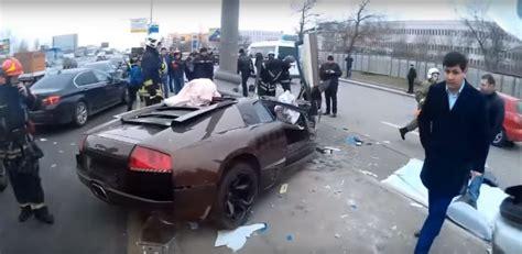 Lamborghini W Moskwie by Lamborghini Murcielago Rosja Wypadek Autostuff Pl