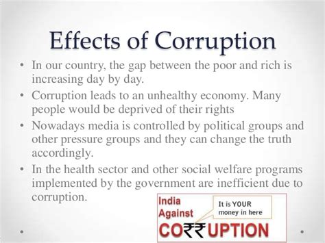 Effect Of Bribery Essay by What Is The Effect Of Corruption On