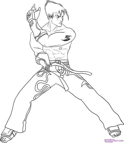 Tekken 7 Coloring Pages tekken jin coloring pages colouring pages