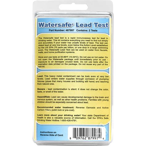 watersafe lead water test kit forestry suppliers inc
