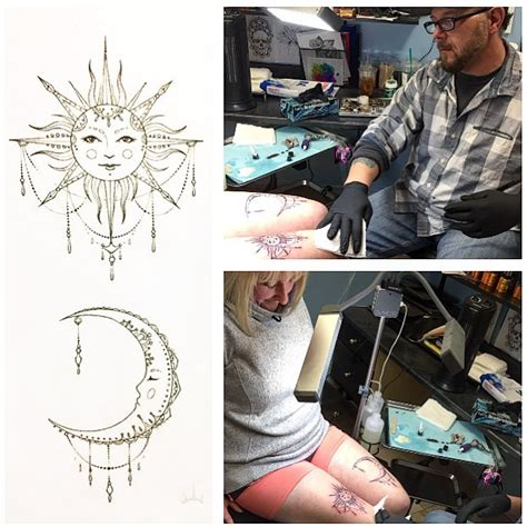 larry allen tattoo celestial flash tattoos by larry allen witch