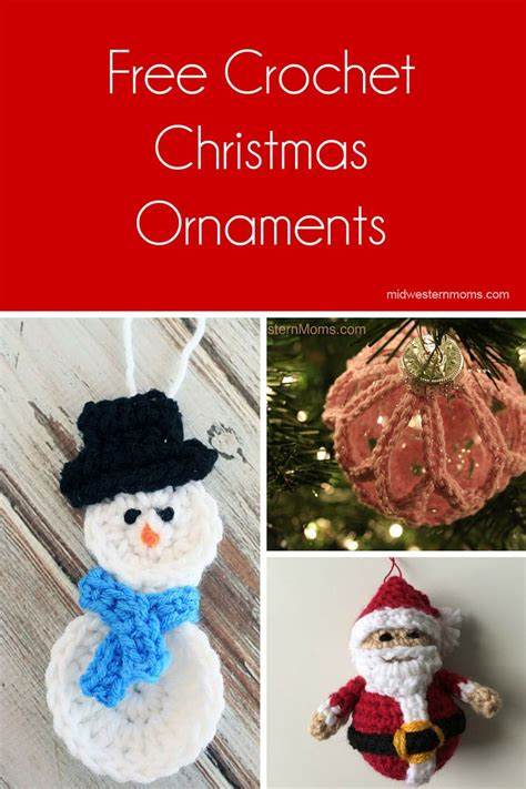 free christmas decorations to make free crochet ornaments patterns