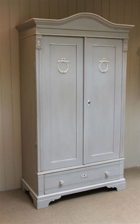 late 19th century continental two door painted wardrobe