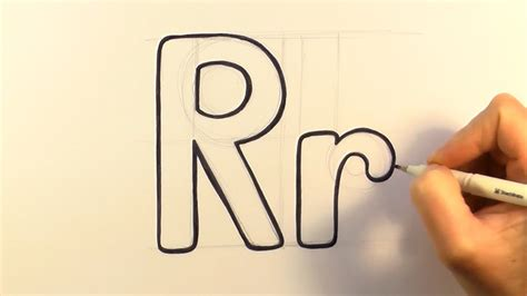 how to draw a letter r and r