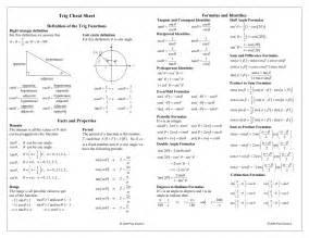 cheat sheets free printable and trigonometry on pinterest