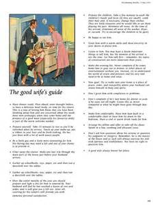 Good Housewife Guide by This Is A Must Read The Good Wife S Guide Good