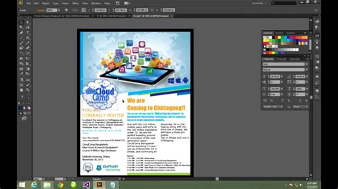 design poster using adobe illustrator how to make a poster using illustrator youtube