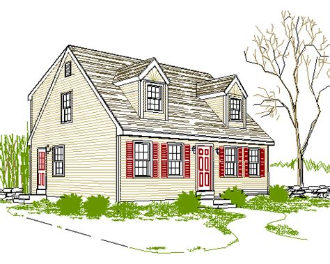 Simple Cape Cod House Plans by Amusing Simple Cape Cod House Plans Ideas Plan 3d House
