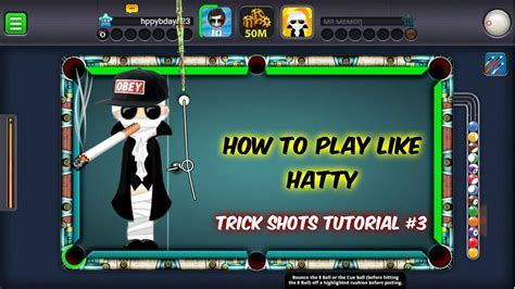tutorial how to hack 8 ball pool 8 ball pool how to play like hatty xd trick shots
