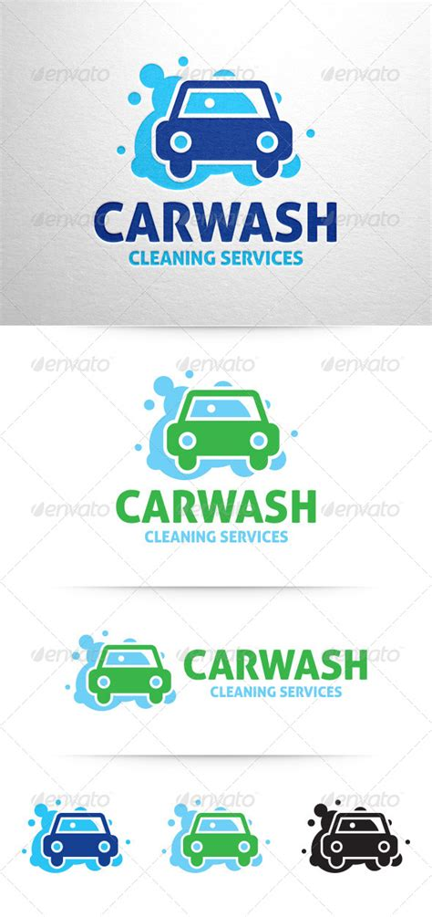 Car Wash Logo V3 By Liveatthebbq Graphicriver Car Wash Logo Template Free