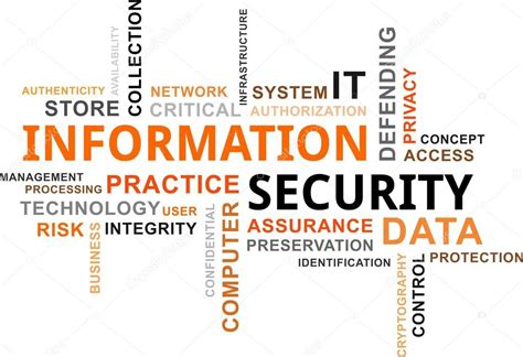 world information word cloud information security stock vector