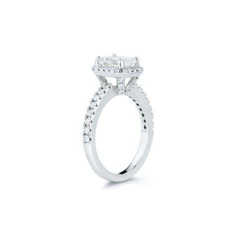 1 Carat Engagement Ring by 1 31 Carat Emerald Cut Halo Engagement Ring