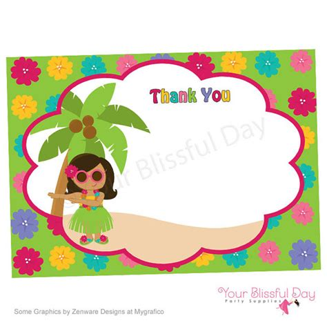 free printable luau thank you cards printable luau thank you cards character of your choice