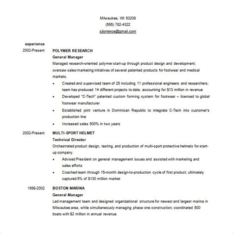 Business Resume Template by Business Resume Template 11 Free Word Excel Pdf