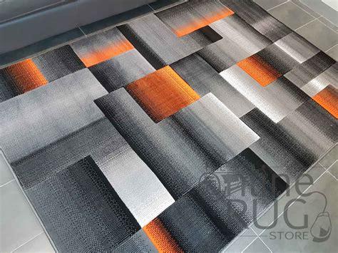 grey square style grey orange geometric square the online rug store