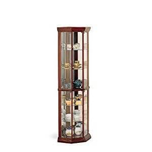 Coaster Corner Curio Cabinet Coaster Solid Wood Glass Corner China Curio