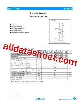 1n5408 diode datasheet 1n5408 datasheet pdf guangdong kexin industrial co ltd