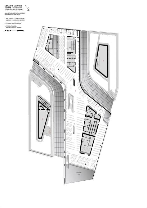 zaha hadid floor plans library and learning centre university of economics vienna