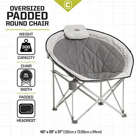 oversized gray saucer chair equipment folding oversized padded moon saucer