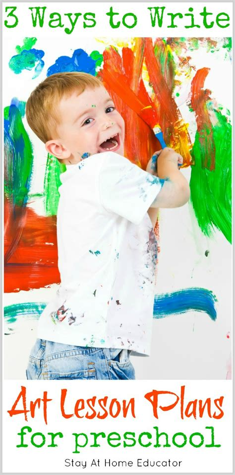 how to write art how to write art lesson plans for preschool stay at home educator