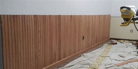 how to install beadboard paneling how to install bead board wainscoting