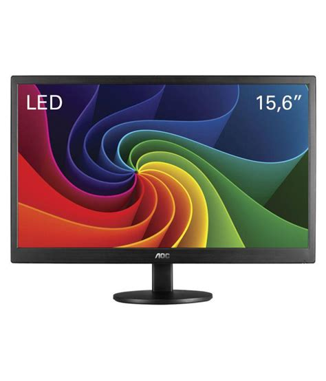 Aoc Led Monitor 15 6 E1670s Black aoc e1670swu 39 6 cm 15 6 1366 768 uhd led monitor