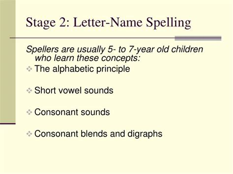 Spellings Open Letter To by Ppt Emerging Spelling Stages And Teaching Strategies