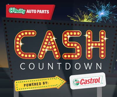 Oreillys Gift Card - o reilly auto parts cash visa gift cards countdown sweepstakes