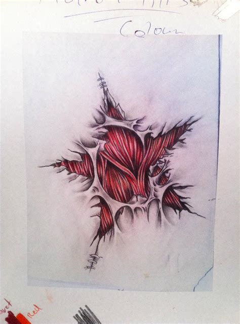 star shaped tattoos designs torn ripped skin shape skull photo 3 2017