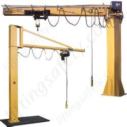 swing jib swing jib cranes installed floor wall cranes lifting
