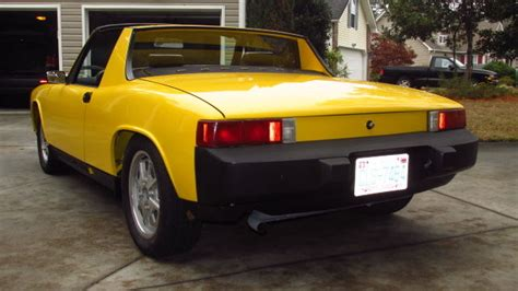 porsche 914 yellow seller of cars 1975 porsche 914 yellow black