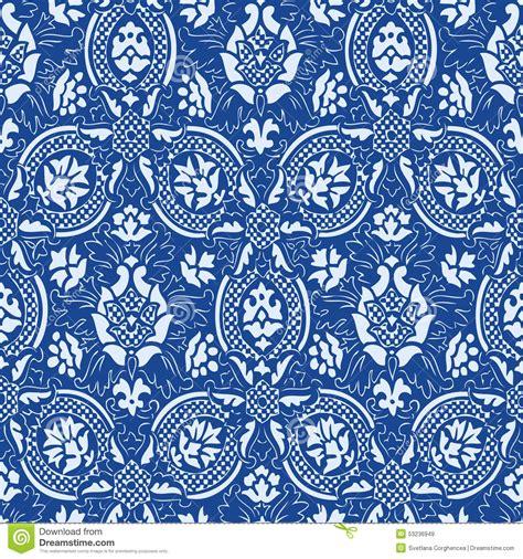 blue pattern vintage background blue seamless abstract floral pattern vintage background