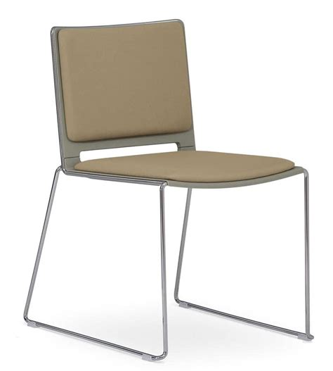 Padded Stackable Chairs by Padded Stackable Chair Sled Steel Base Idfdesign