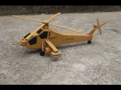 How To Make A Paper Helicopter Model - how to make helicopter ah 64 apache cardboard